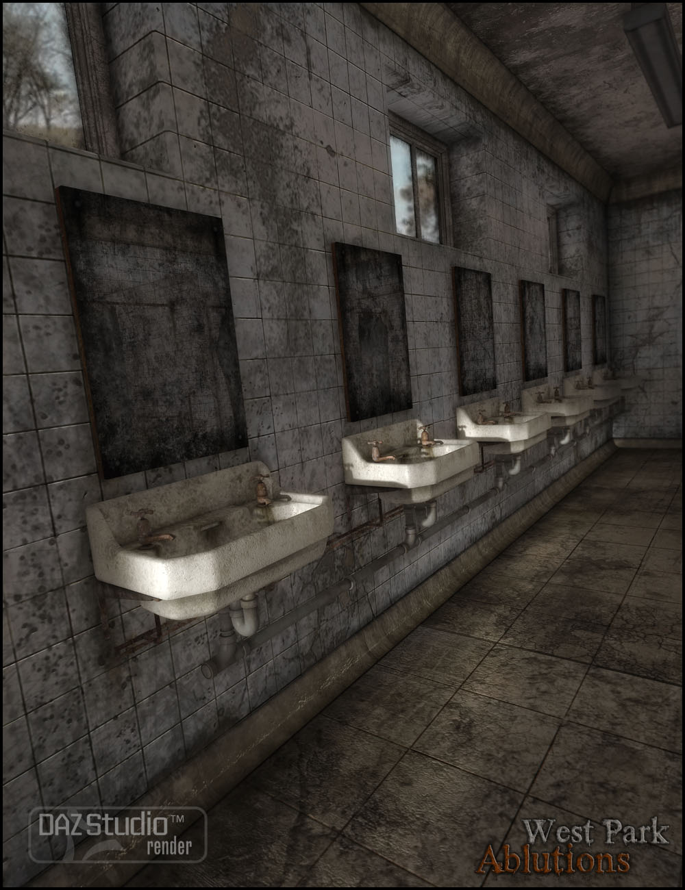 West Park Ablutions by: Jack Tomalin, 3D Models by Daz 3D