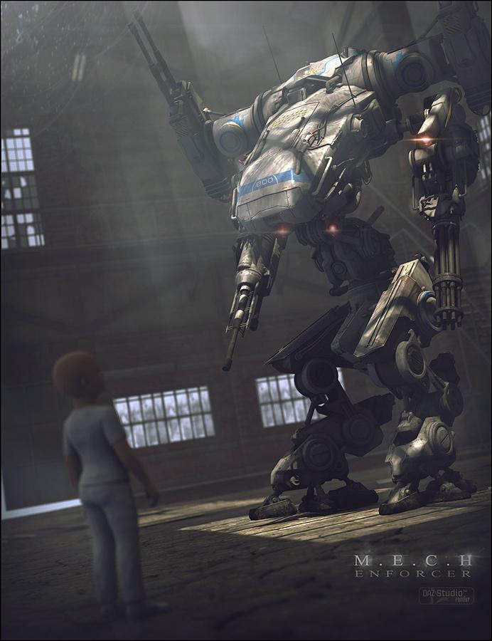 MECH 2012 Enforcer by: Stonemason, 3D Models by Daz 3D