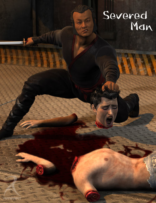 Severed Man by: RawArt, 3D Models by Daz 3D