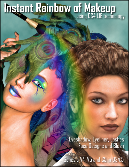 Instant Rainbow of Makeup by: DraagonStorm, 3D Models by Daz 3D
