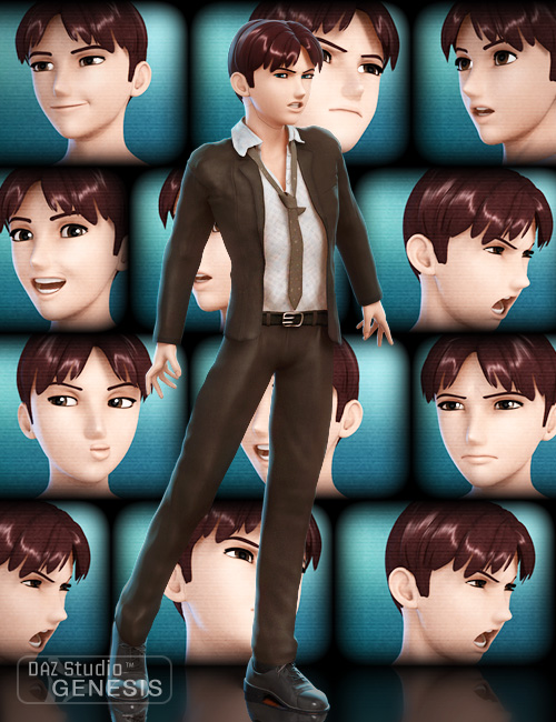 Faces of Hiro 5 by: joelegecko, 3D Models by Daz 3D