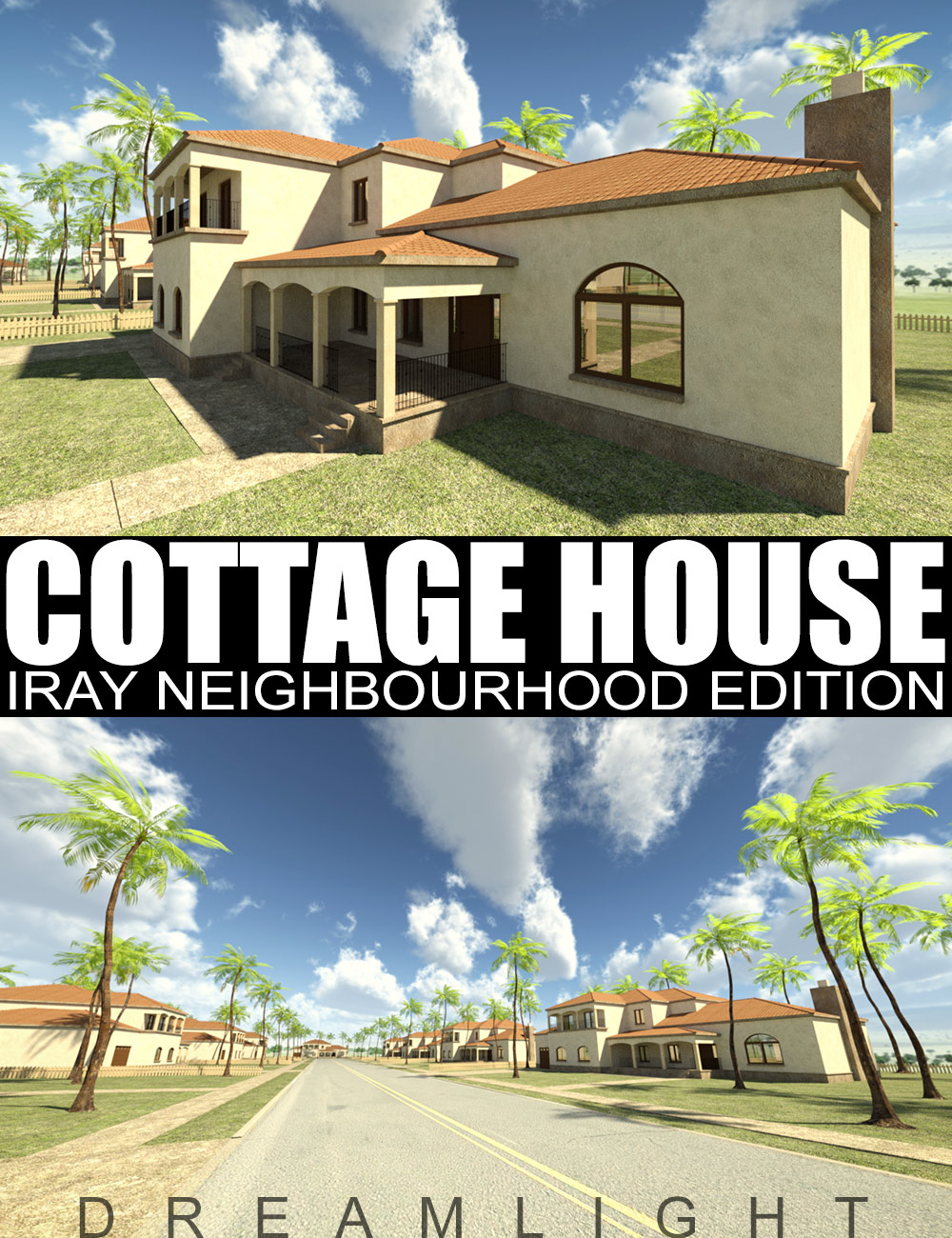 Cottage House - Iray Neighbourhood Edition by: Dreamlight, 3D Models by Daz 3D