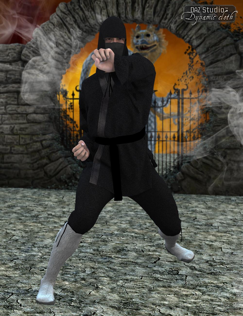 Dynamic Ninja Suit for Michael 5 by: SimonWMOptiTex, 3D Models by Daz 3D