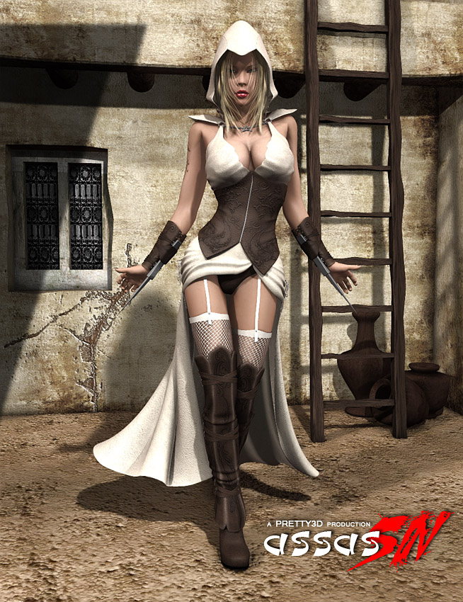AssasSIN by: Pretty3D, 3D Models by Daz 3D