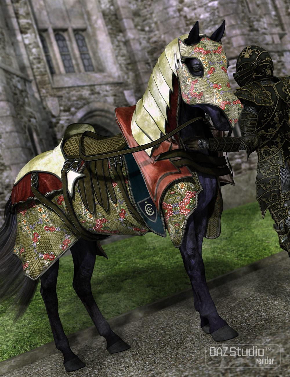 Ceremonial Horse Armor by: Barbara BrundonSarsa, 3D Models by Daz 3D