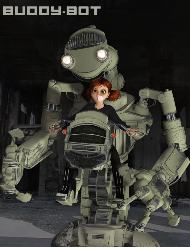 Buddy-Bot by: The AntFarm, 3D Models by Daz 3D