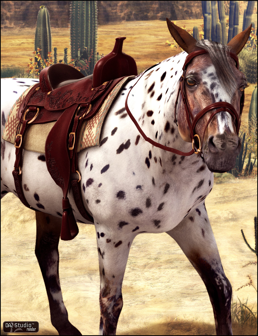 Western Saddle Textures by: Arien, 3D Models by Daz 3D