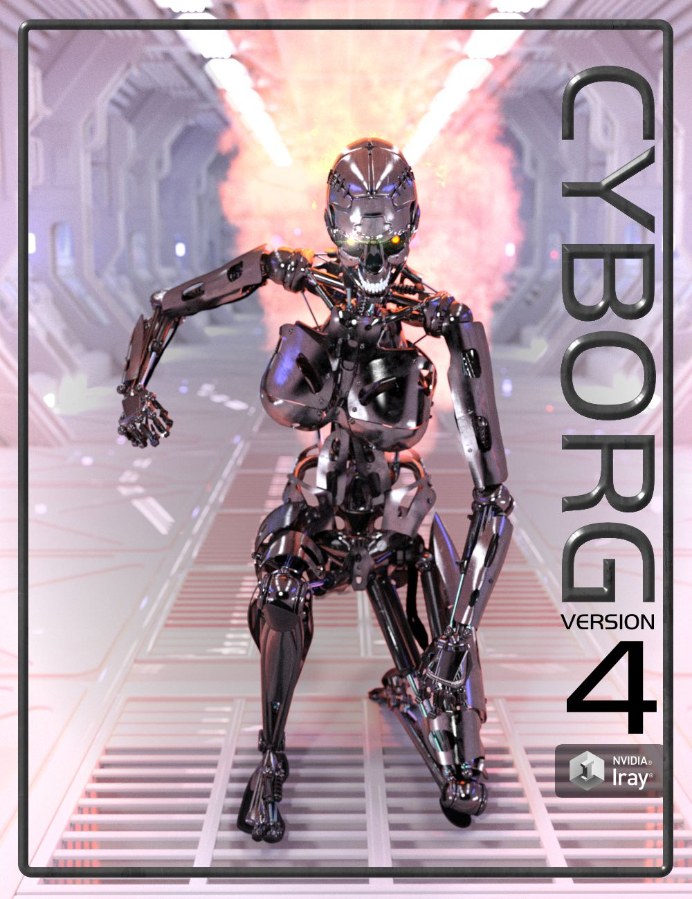 Cyborg Version 4 by: DzFire, 3D Models by Daz 3D