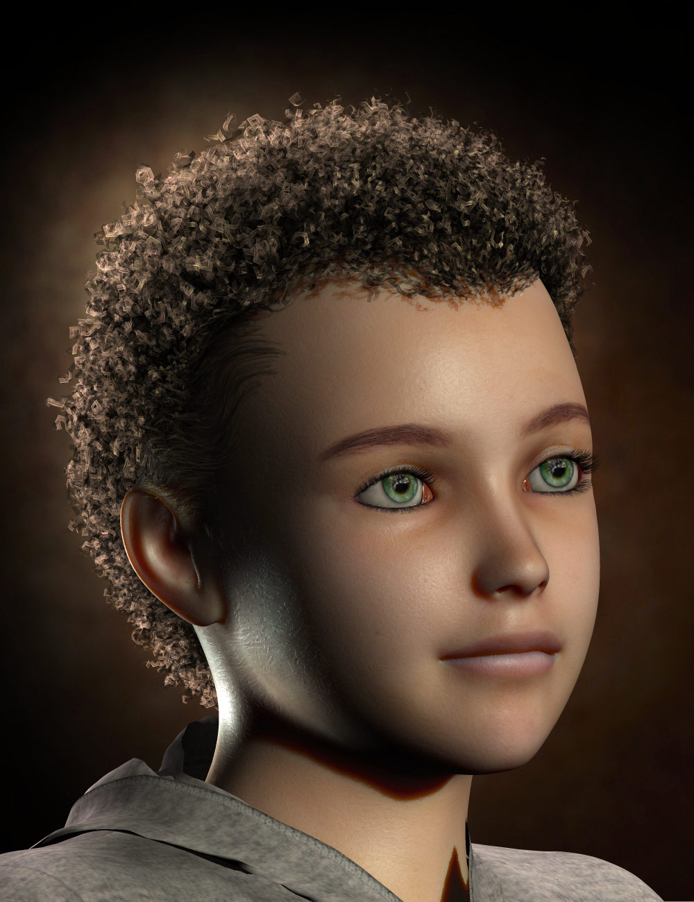 Paul Hair for Genesis and M4 by: Neftis3D, 3D Models by Daz 3D