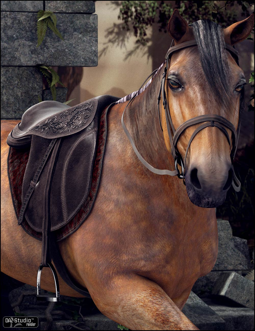 English Saddle Textures by: Arien, 3D Models by Daz 3D