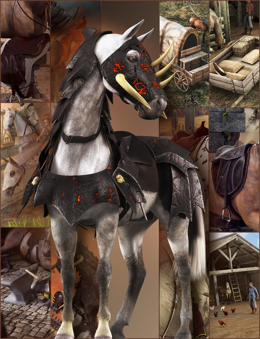 DAZ Horse 2 Pro Bundle by: , 3D Models by Daz 3D