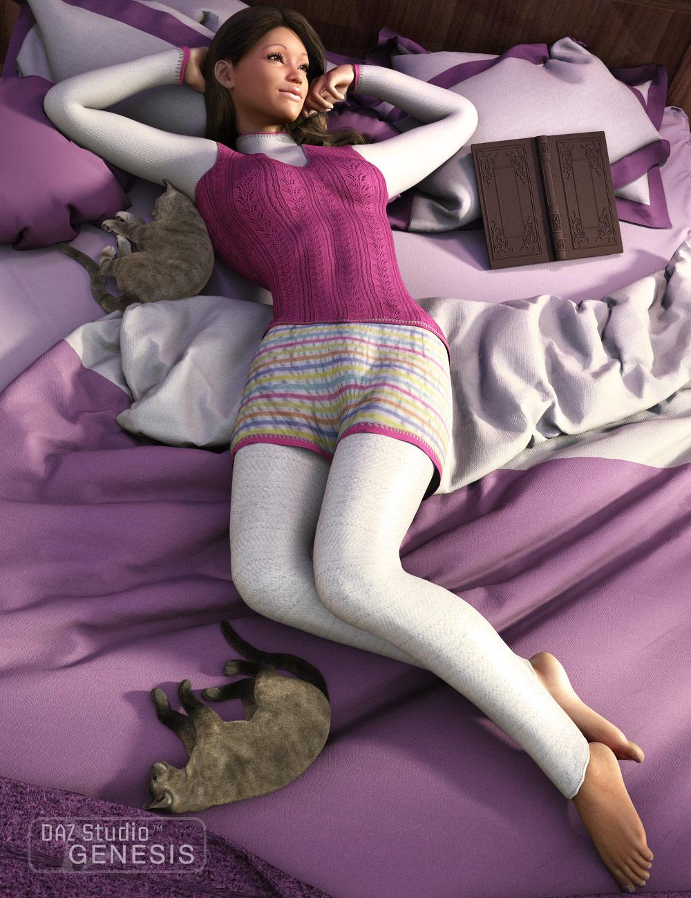 Lazy Sunday by: Barbara BrundonSarsa, 3D Models by Daz 3D