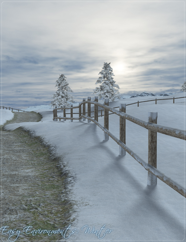 Easy Environments Winter by: Flipmode, 3D Models by Daz 3D