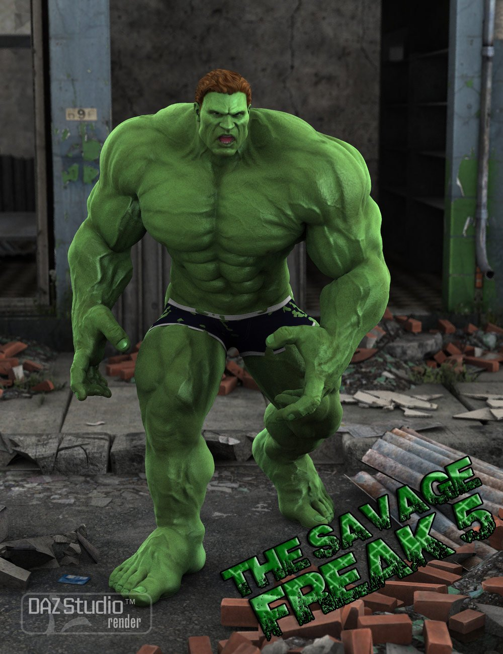 The Savage Freak5 by: Muscleman, 3D Models by Daz 3D