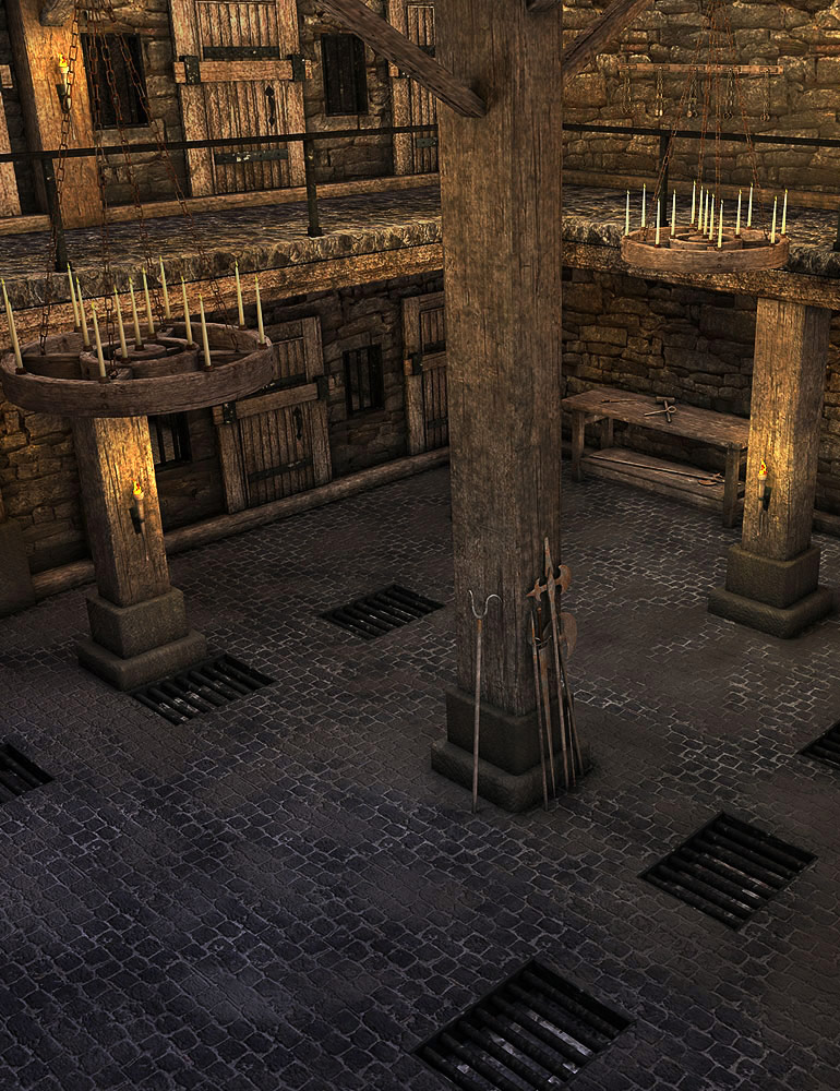 The Dungeon by: ARTCollaborationsNeilV 1, 3D Models by Daz 3D