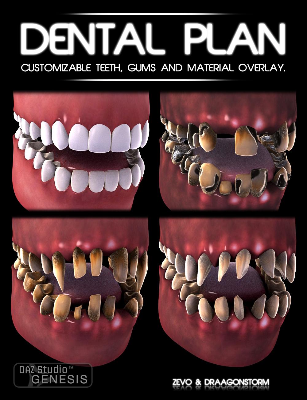 Dental Plan for Genesis by: DraagonStormZev0, 3D Models by Daz 3D