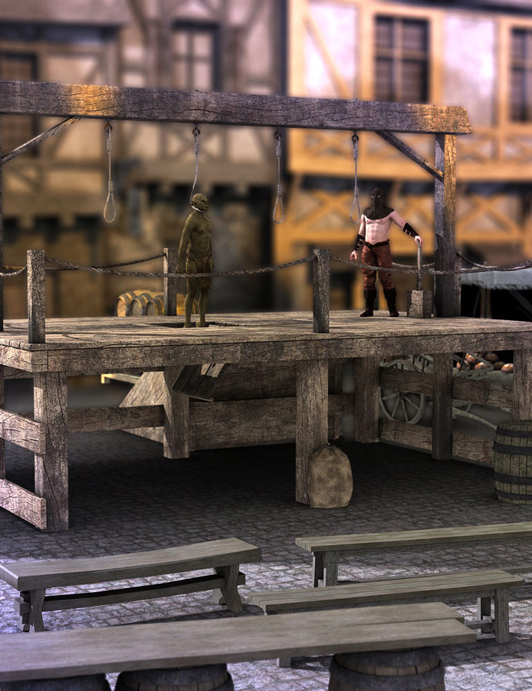 The Dungeon Gallows by: ARTCollaborationsNeilV 1, 3D Models by Daz 3D