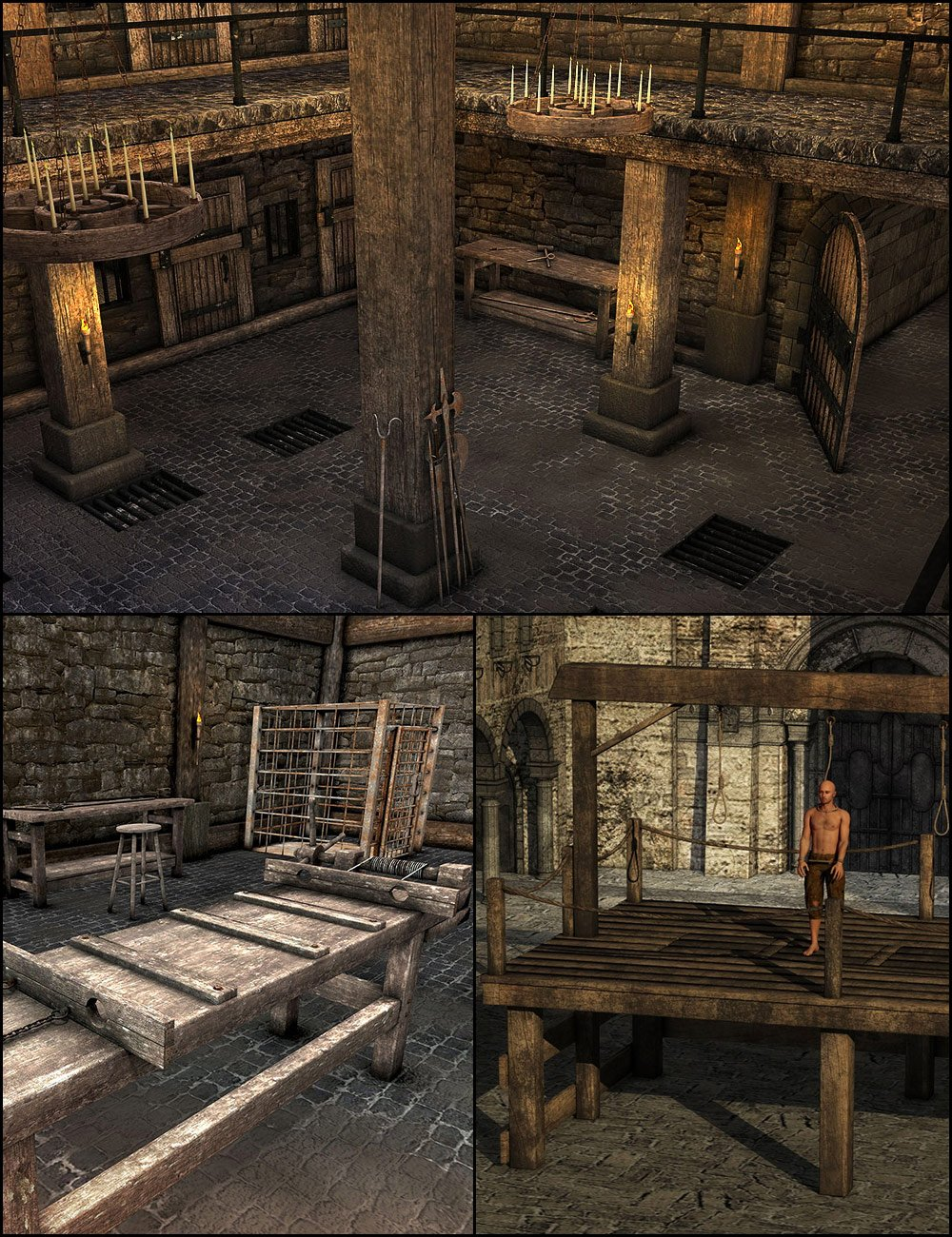 The Dungeon Bundle by: ARTCollaborationsNeilV 1, 3D Models by Daz 3D