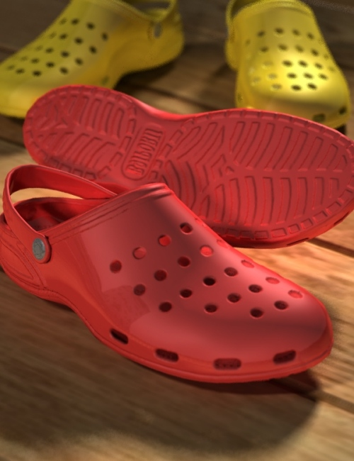 Sports Clogs for Genesis by: blondie9999, 3D Models by Daz 3D