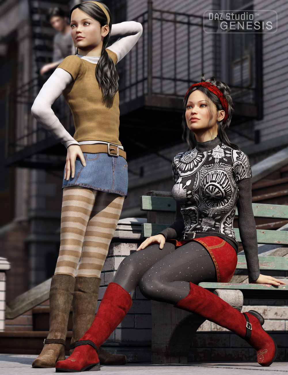 17 Chic Textures by: Sarsa, 3D Models by Daz 3D