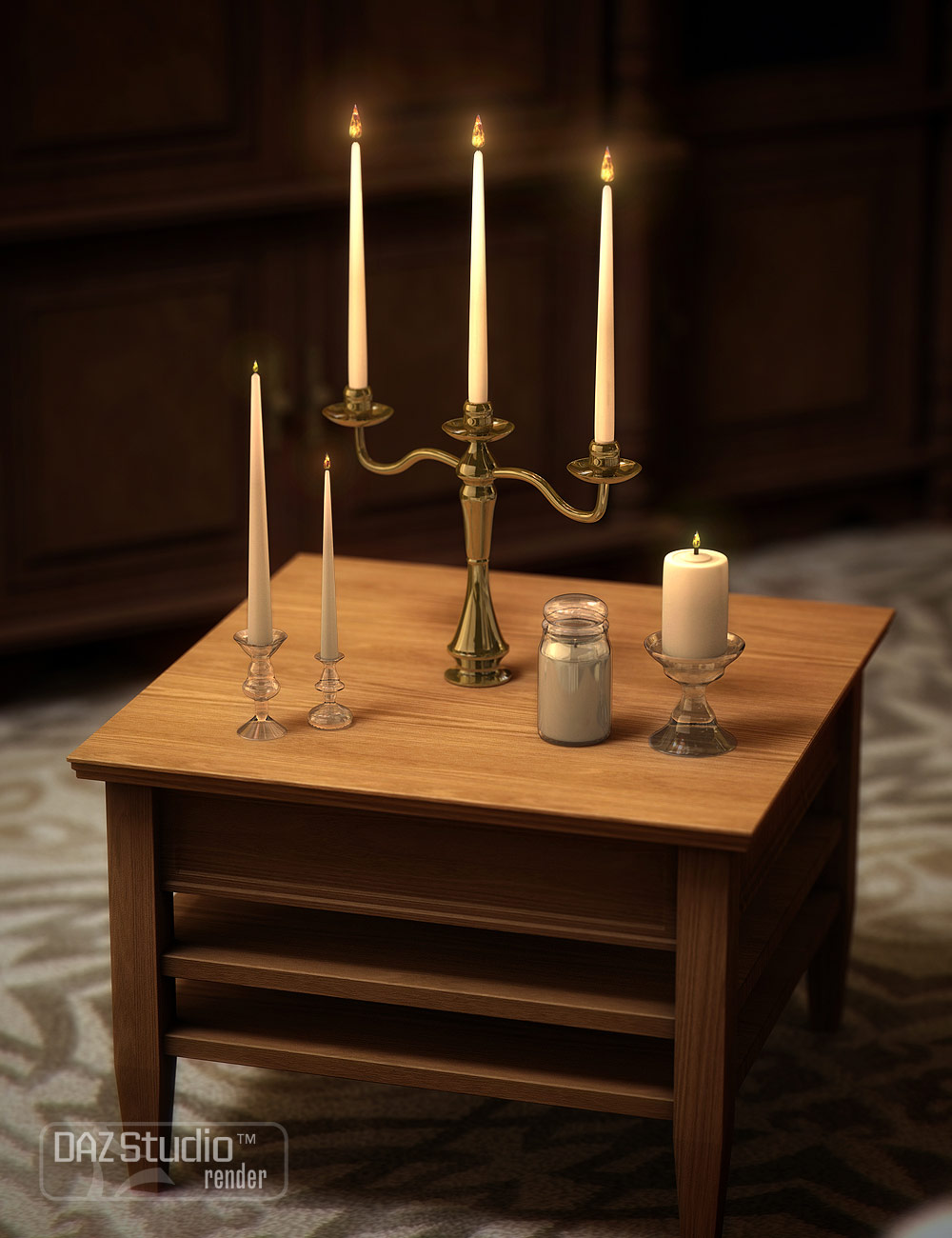 Candle Collection by: ARTCollab, 3D Models by Daz 3D