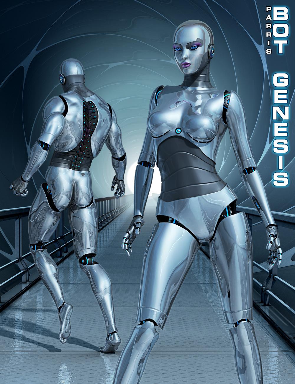 Bot Genesis by: Parris, 3D Models by Daz 3D