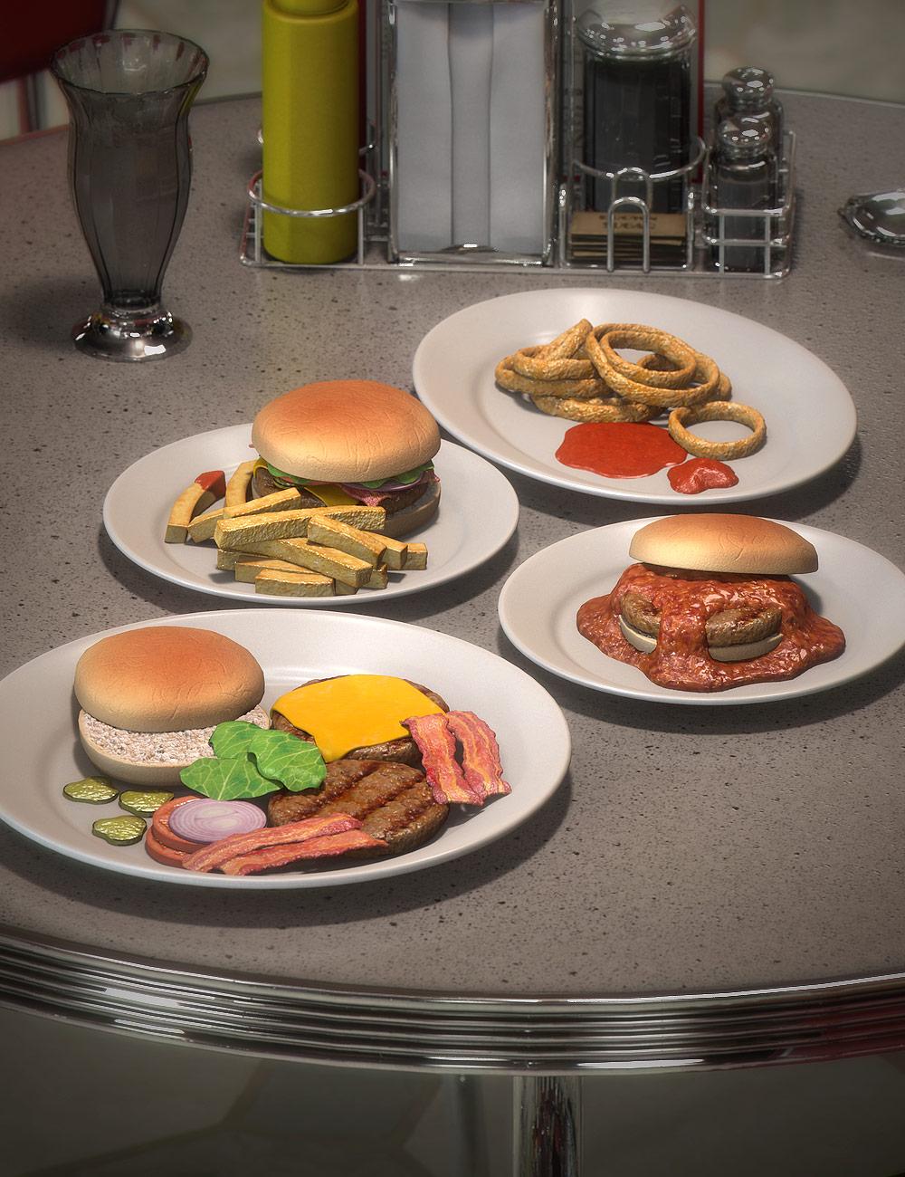 Diner Food 4 by: blondie9999, 3D Models by Daz 3D