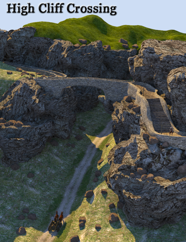 High Cliff Crossing by: FirstBastion, 3D Models by Daz 3D