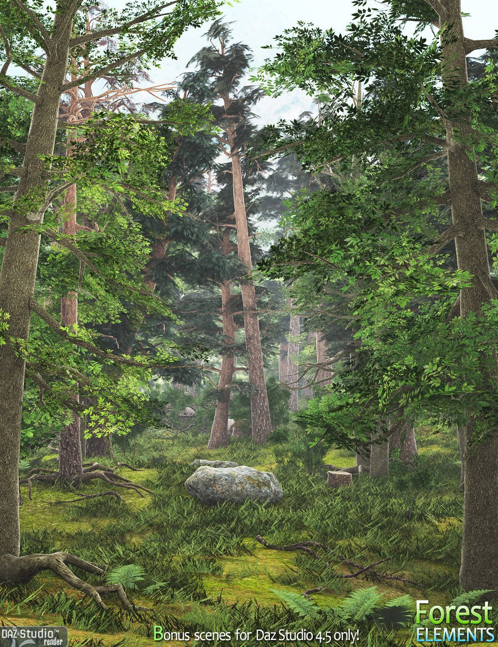 Forest Elements by: Andrey Pestryakov, 3D Models by Daz 3D