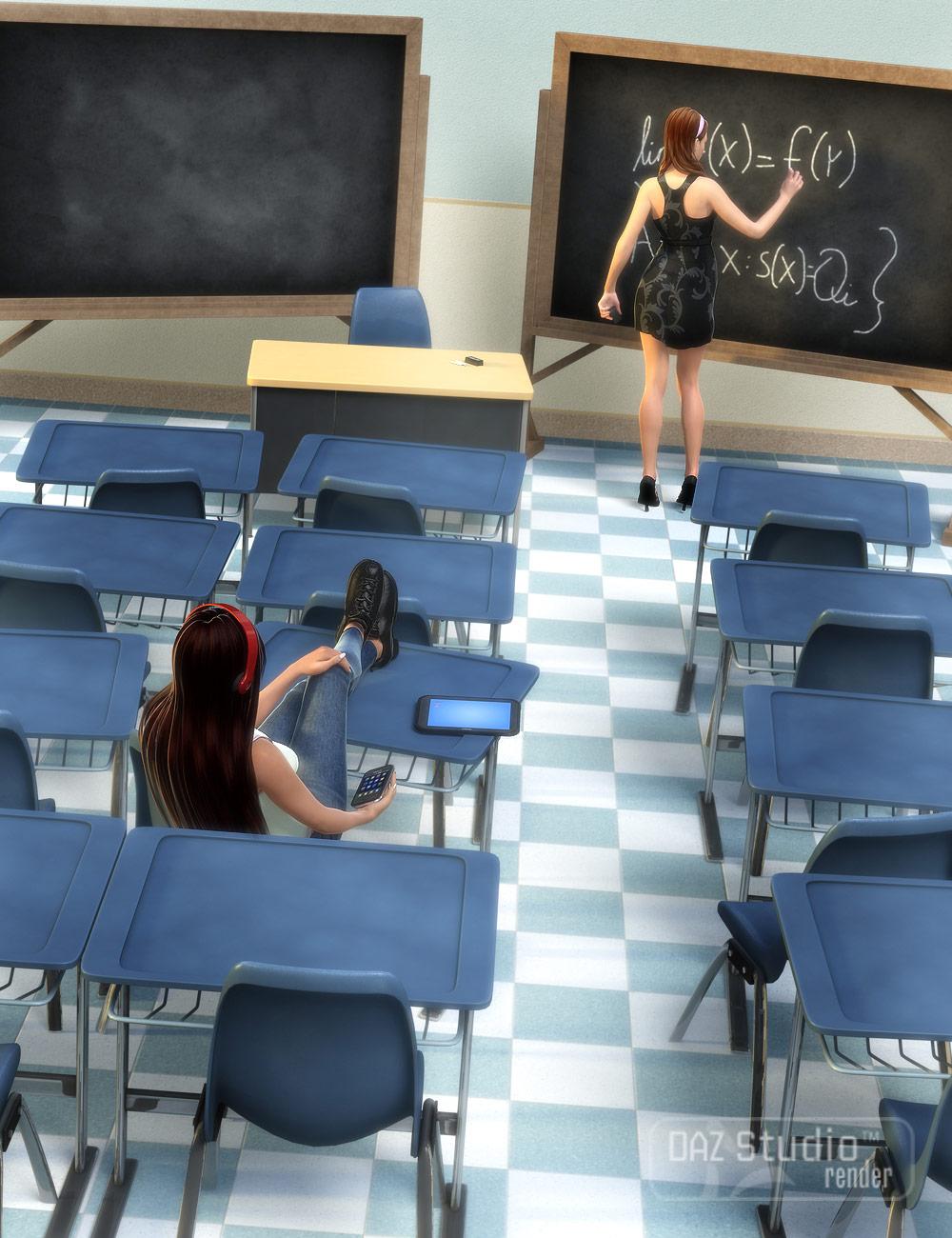Classroom Furniture by: Valandar, 3D Models by Daz 3D