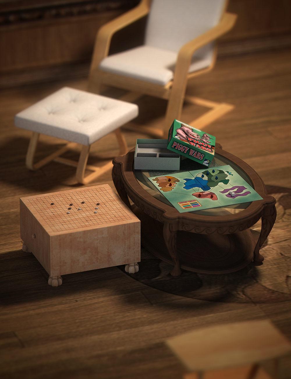 Board Games by: Valandar, 3D Models by Daz 3D