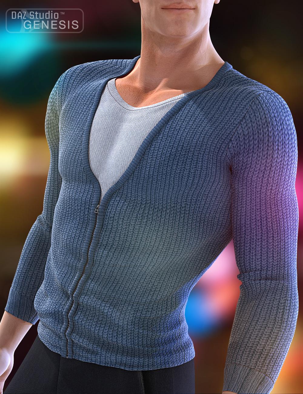Real Feel Zipped Cardigan by: 4blueyes, 3D Models by Daz 3D
