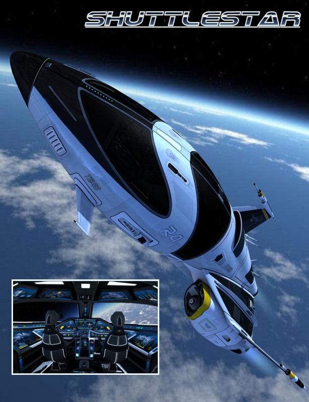 Shuttlestar by: Kibarreto, 3D Models by Daz 3D