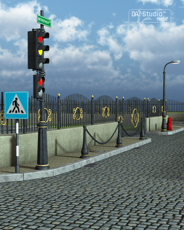 City Roads by: petipet, 3D Models by Daz 3D