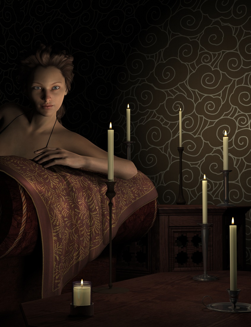 By Candle Light For DAZ Studio by: Khory, 3D Models by Daz 3D
