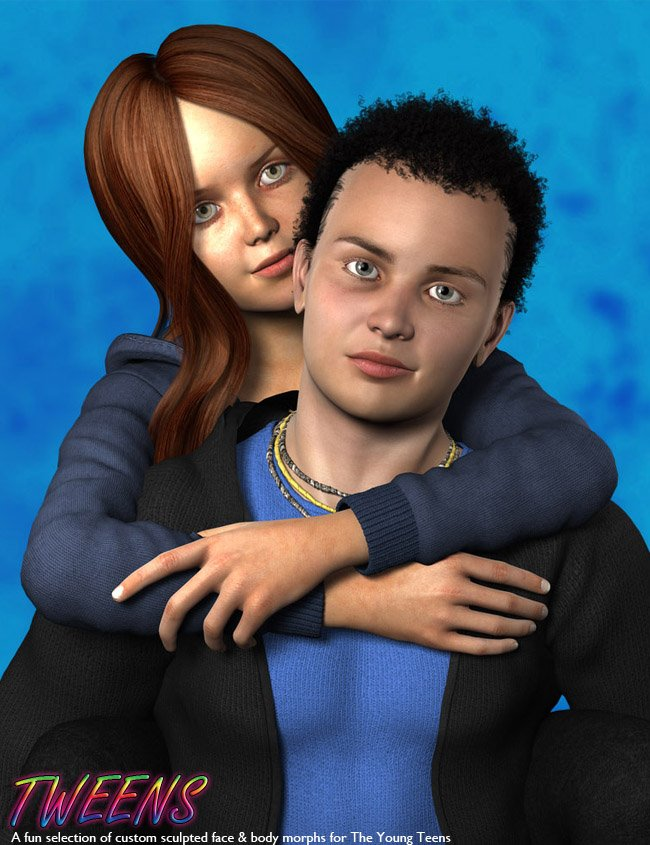Tweens for Justin and Julie by: Male-M3dia, 3D Models by Daz 3D