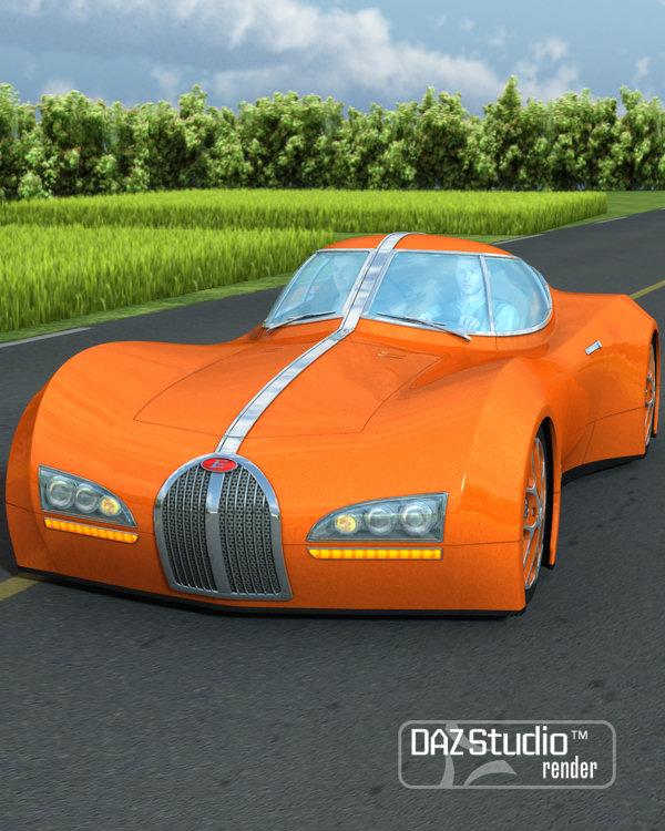 Sports Car Emexon by: petipet, 3D Models by Daz 3D