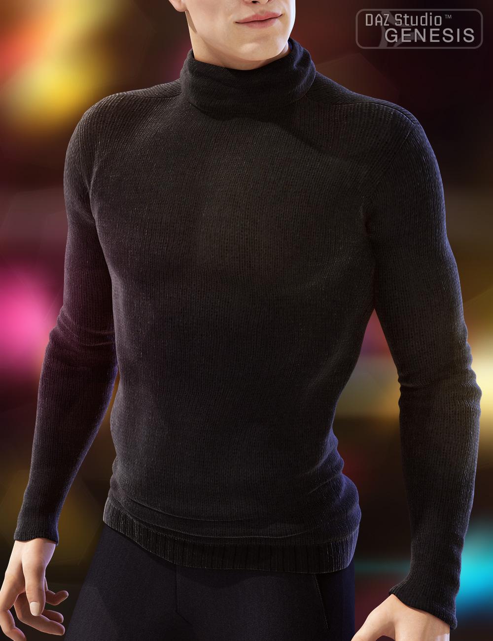 Real Feel Cozy Turtleneck Genesis by: 4blueyes, 3D Models by Daz 3D