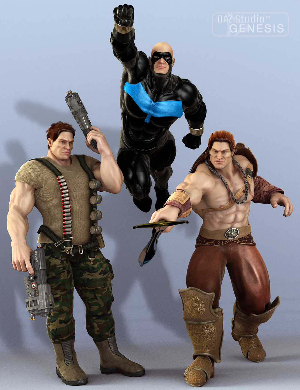 Freak 5 Action Poses by: , 3D Models by Daz 3D