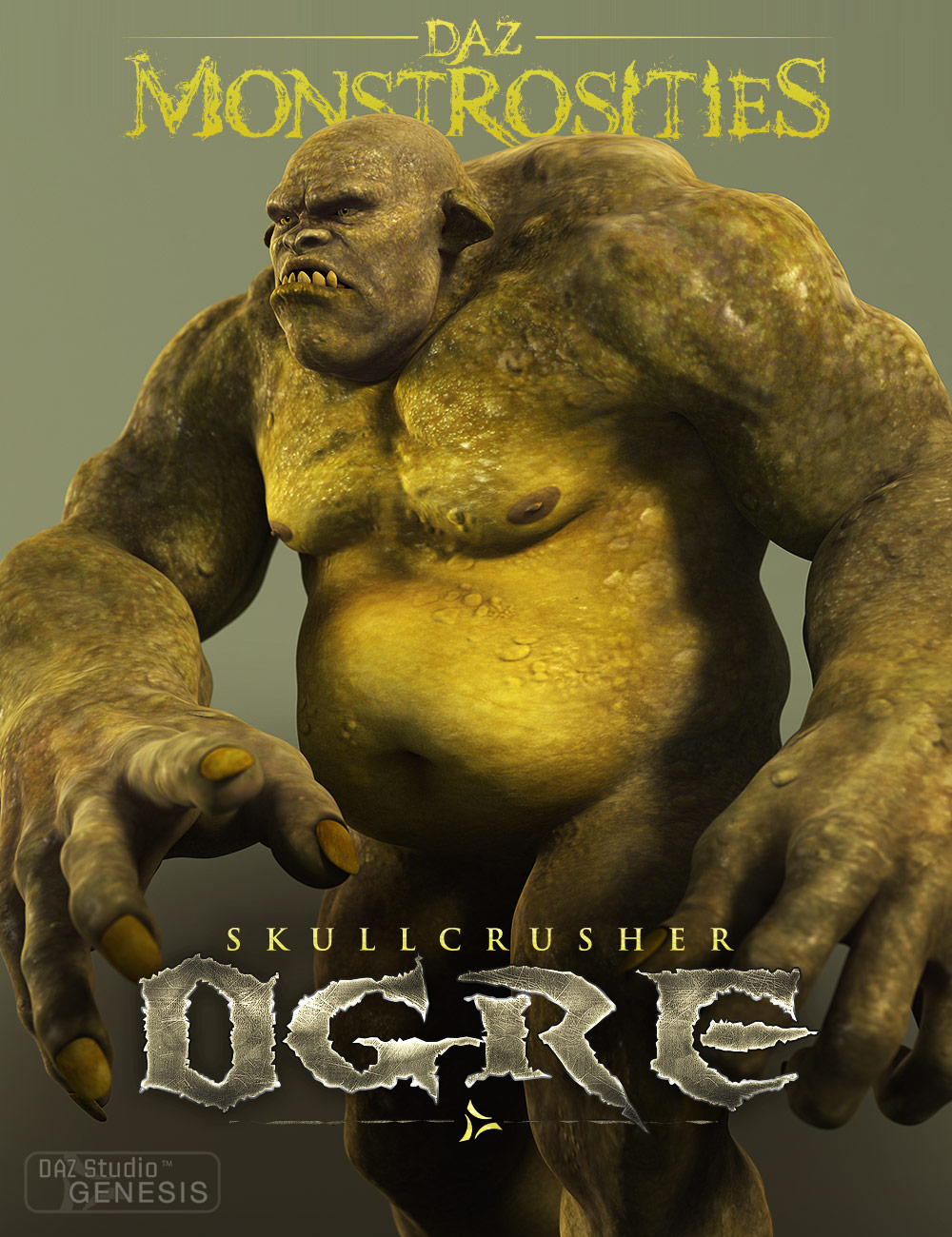 DAZ Monstrosities: Skullcrusher Ogre by: , 3D Models by Daz 3D