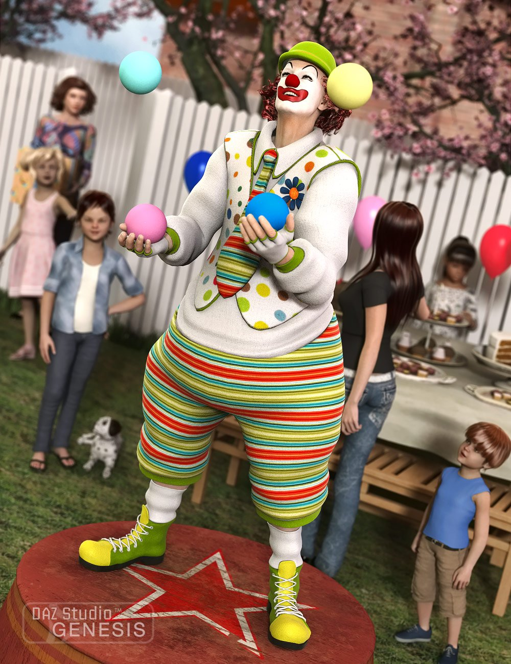 Clown by: SarsaVal3dart, 3D Models by Daz 3D