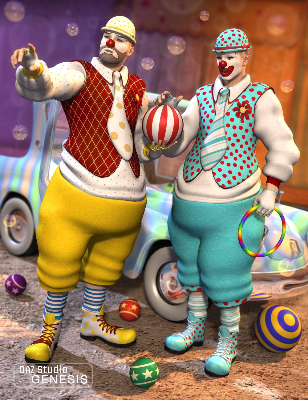 Clown Textures by: Sarsa, 3D Models by Daz 3D