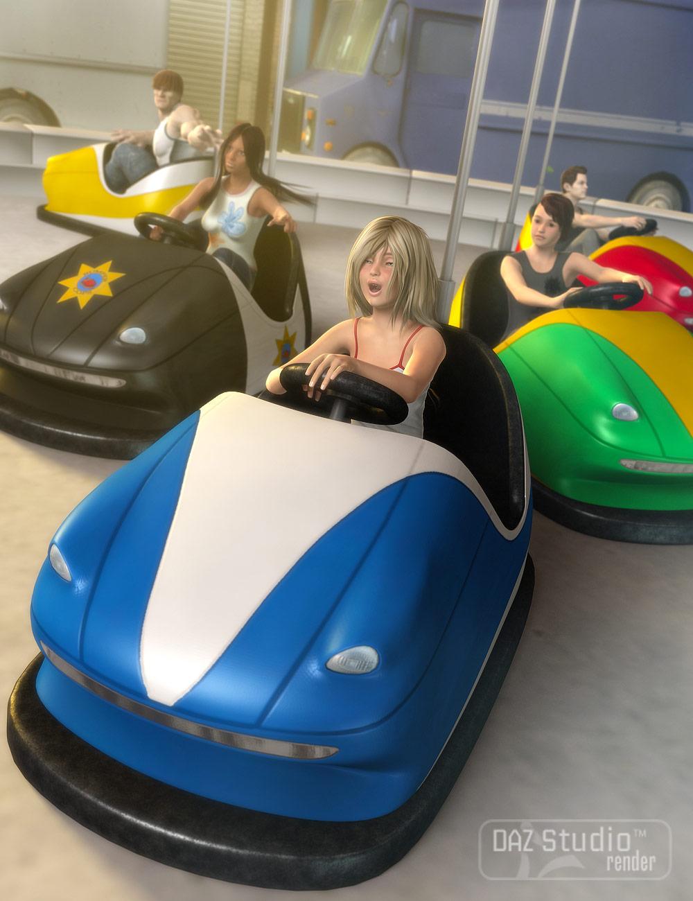 Bumper Cars by: Valandar, 3D Models by Daz 3D
