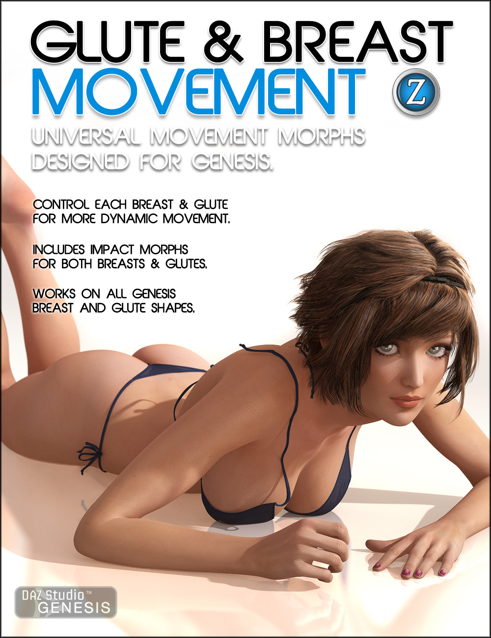 Glute and Breast Movement for Genesis by: Zev0, 3D Models by Daz 3D