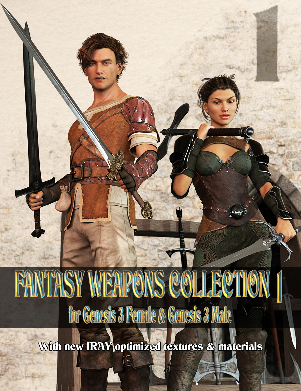 Fantasy Weapons Collection by: Porsimo, 3D Models by Daz 3D