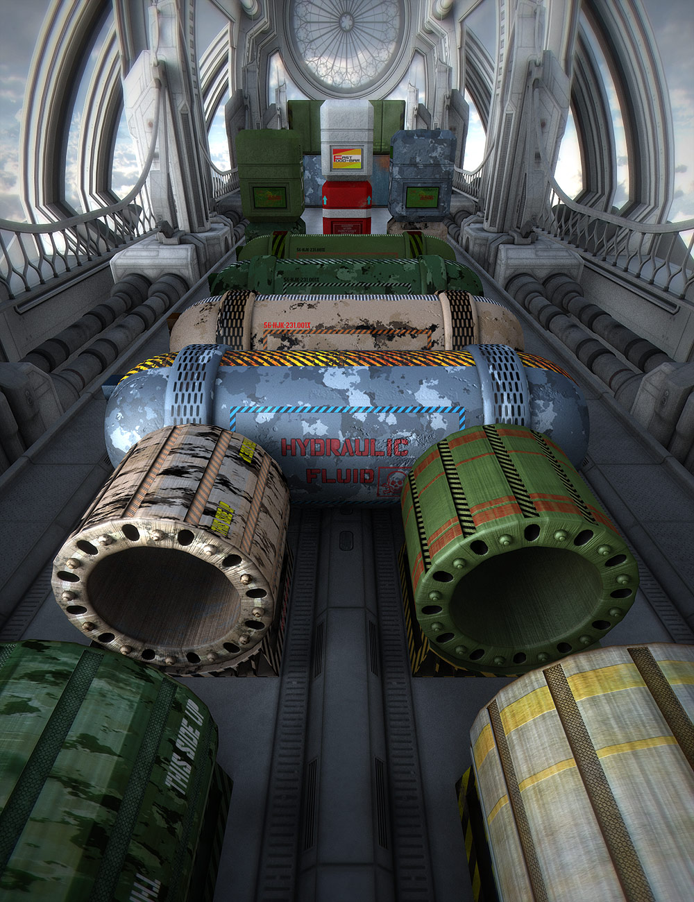 Cargo Units 2 by: 26FAHRENHEIT, 3D Models by Daz 3D