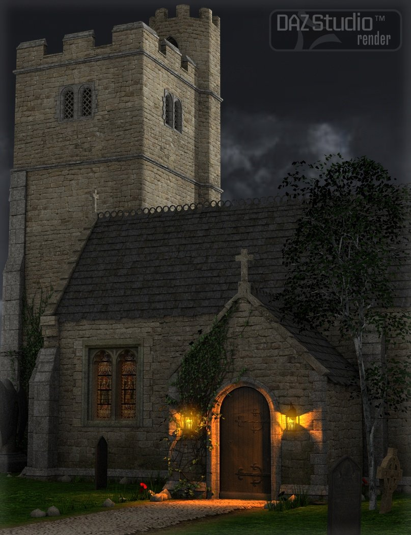 The Church by: Merlin Studios, 3D Models by Daz 3D