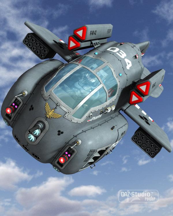 Starship Piranha by: petipet, 3D Models by Daz 3D
