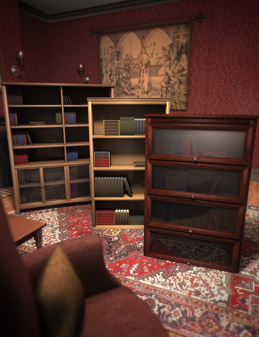 The Bookcase Collection by: ARTCollab, 3D Models by Daz 3D