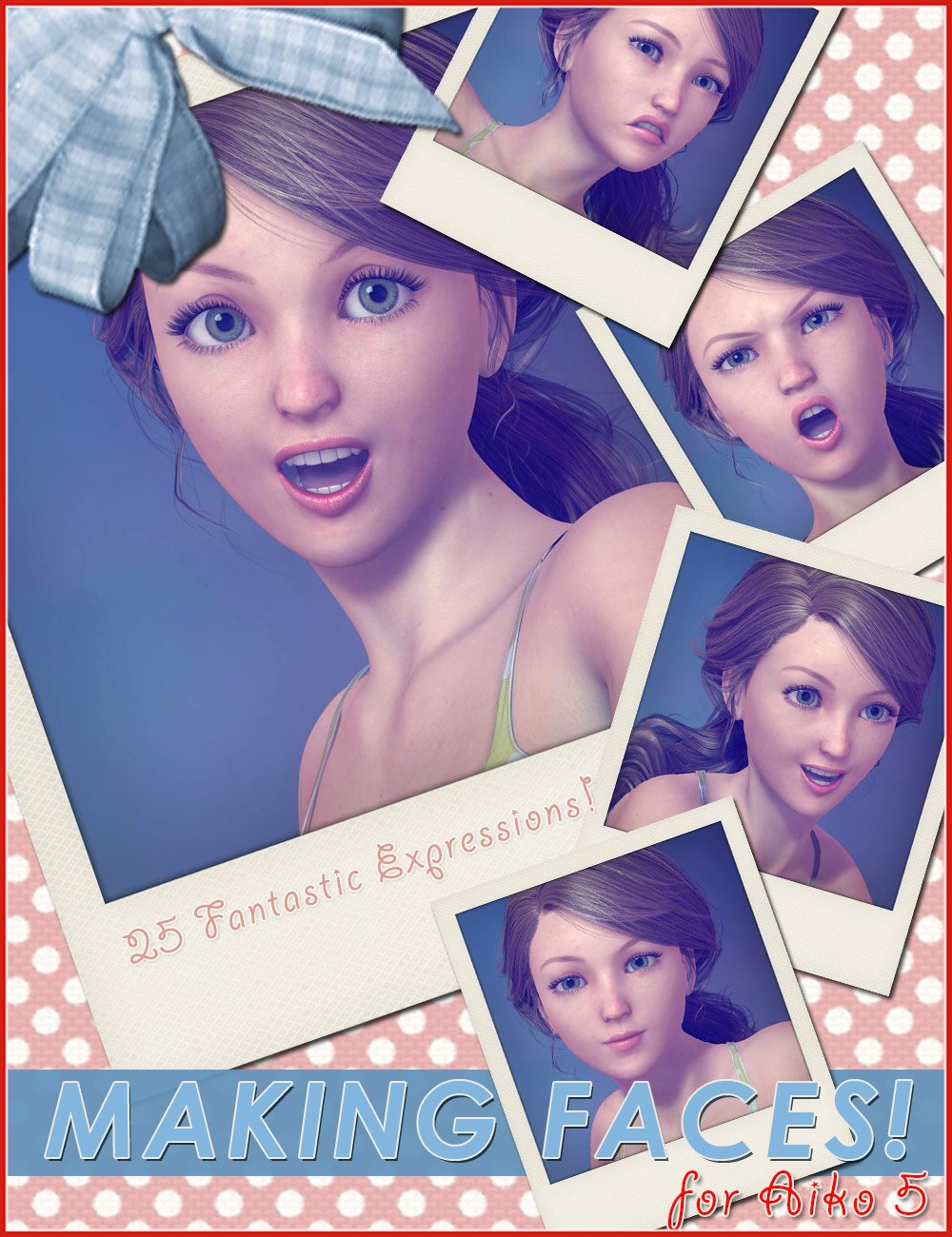 Making Faces for Aiko 5 by: 3DCelebrity, 3D Models by Daz 3D